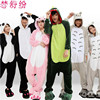UE Wholesale Panda Stitch Unicorn Unisex Flannel Hoodie Pajamas Costume Cosplay Animal Onesies Sleepwear For Adults