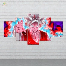 Anime Dragon Ball Wall Art HD Prints Canvas Painting Modular Picture And Vintag Poster Home Decor 5 PIECES