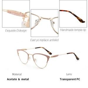 Image 2 - אצטט נשים משקפיים מסגרת משקפיים שקוף עדשת רטרו גבירותיי חתול עין משקפיים קוצר ראיה בציר משקפיים מסגרת # 3743