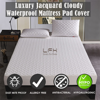 "Hypoallergenic Super Soft Waterproof Mattress Protector Stretch up to18"" Waterproof Soft Jacquard Knit Fabric Mattress Protector