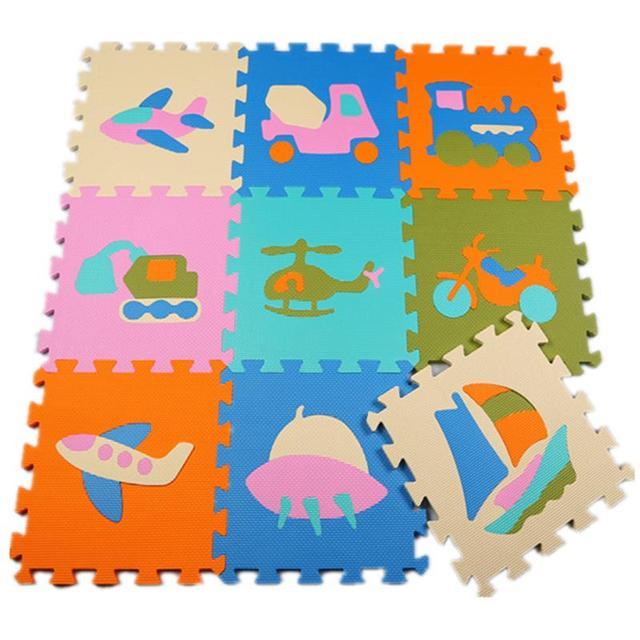 9pcs/set EVA Foam Mat Baby Crawl Mat Foam Puzzle Mat Floor Puzzle Game Play