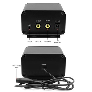 Image 5 - Aileap motosiklet ses seti 150W Stereo 2ch amplifikatör, 4 inç su geçirmez hoparlörler, Bluetooth, FM radyo, AUX MP3 (siyah)