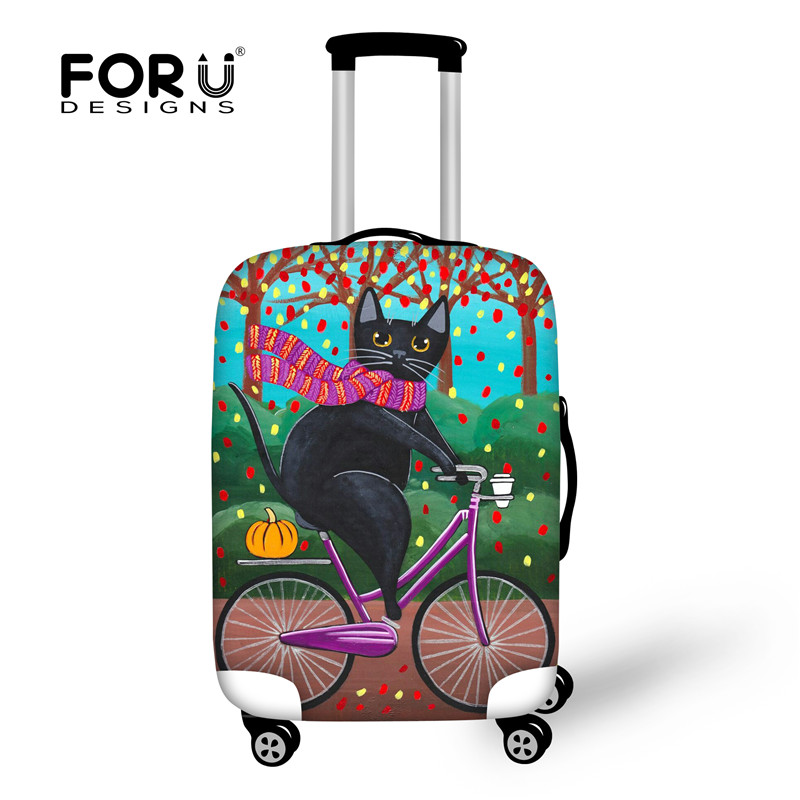 FORUDESIGNS Elastic Luggage Protective Dust Covers Printing 18-30inch Travel Suitcase Cover Waterproof