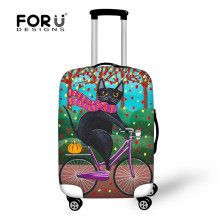 цена FORUDESIGNS Elastic Luggage Protective Dust Covers Printing 18-30inch Travel Suitcase Cover Waterproof Luggage Suitcase Cover