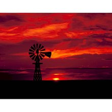 5D DIY Diamond Painting Cross Stitch Full Square Round Drill Western Silhouette 3D