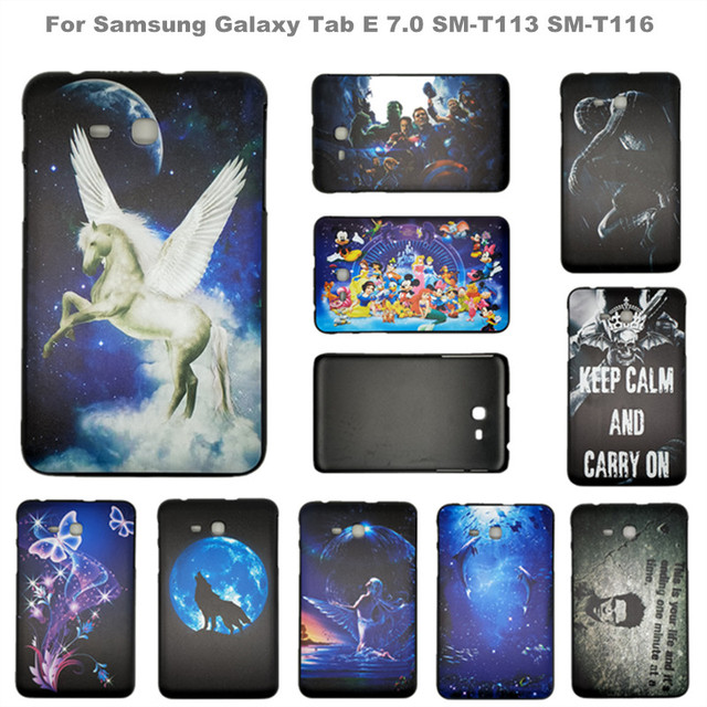90baba689b1 Printed Back Cover For Samsung Galaxy Tab E Lite 7.0 Hard Case for SM-T113  SM-T116 7 inch Tablet Funda, Your photo Customizable