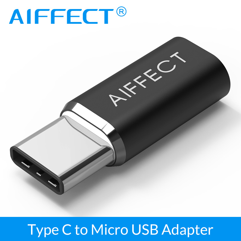 AIFFECT Mini High Quality Type C To Micro USB Adapter Type-C Converter To Micro B  For Samsung Xiaomi LG Micro B Type C Devices