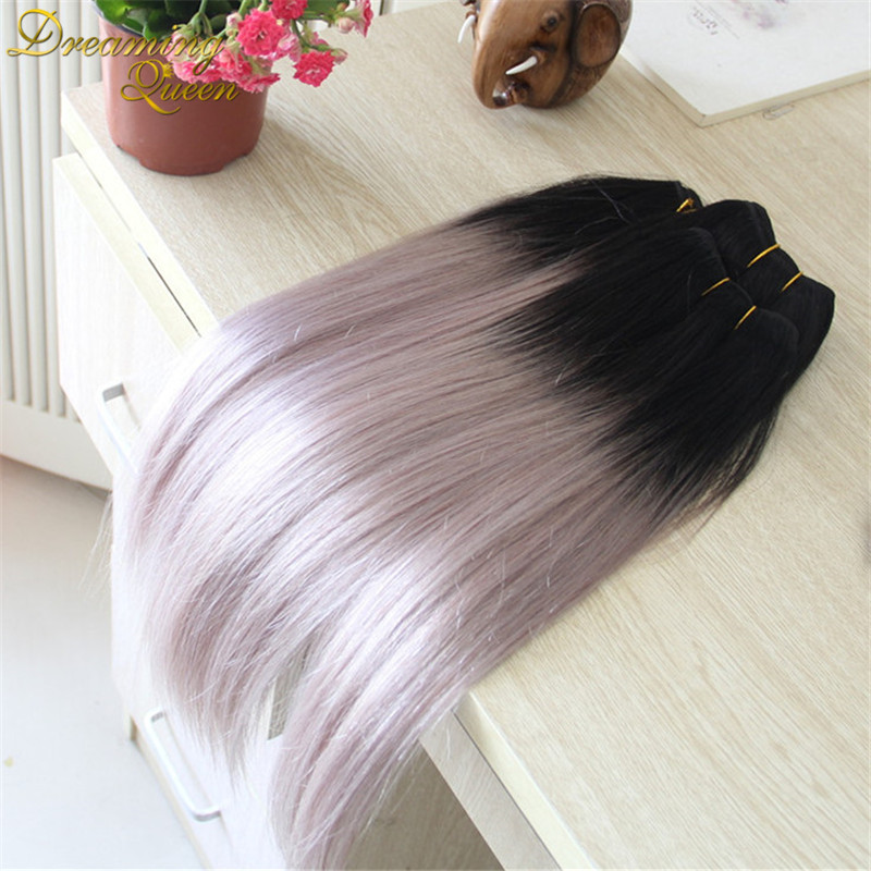 Grey hair extensions uk images hair extension hair highlights hot sale silver grey ombre human hair extensions 3 pcs 1b grey hot sale silver grey pmusecretfo Images