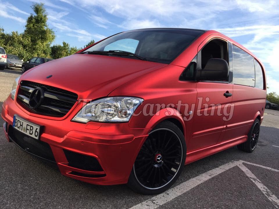 2019 film de protection pour voiture en vinyle chromé satiné rouge pour le style du véhicule avec feuille de Chrome mat Air rleasing 1.52x20 m/Roll