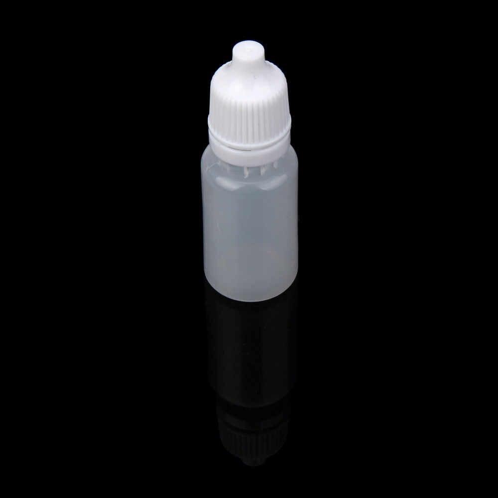 Frascos conta-gotas 25/50/100 PCS 10 ml Garrafas Vazias de Plástico Squeezable Conta-gotas Líquido Dropper Frascos cuentagotas may27