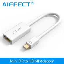 AIFFECT 1080P Mini DP to HDMI Adapter Premium DisplayPort Male FemaleThunderbolt Port Cable Video Converter