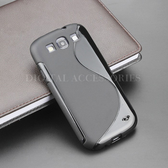 8 Color S-Line Anti Skidding Gel TPU Slim Soft Case Back Cover For Samsung Galaxy S3 i9300 Mobile Phone Rubber silicone Cases