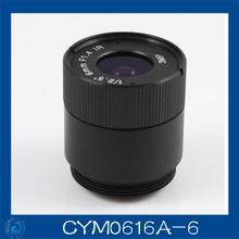 3MP. cctv camera lens 6mm Fixed Iris lens, 1/2.5″ cs  for Security Camera, Free shipping.CYM0616A-6