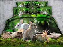Rabbit Bedding set Luxury Designer 3D rabbit duvet covers bed sheet sheets linen quilt cover Cal King Queen size twin full 4pcs