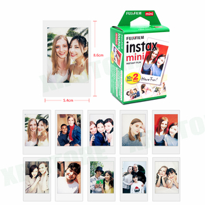 Image 2 - Fujifilm Instax מיני סרט לבן קצה 20 גיליונות/חבילות נייר צילום פוג י מיידי מצלמה 11 9 8 7s 25 50 90 sp 1 2 עם חבילה