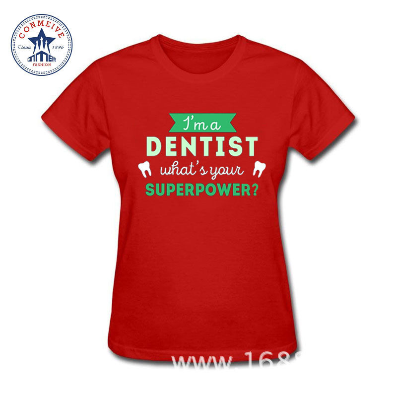 Best buy ) }}2017 Fashion New Gift Tee Superpower Professions Dental Cotton funny