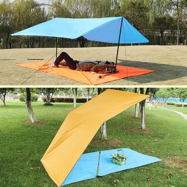 BLUEFIELD 3m*3m Anti UV Ultralight Sun Shelter Beach Tent Pergola Awning Canopy 190T Nylon Tarp Camping Sunshelter