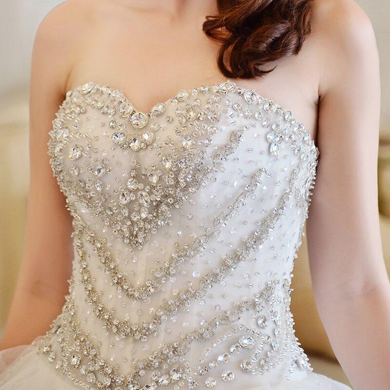 Mzyw0105 Strapless Sweetheart Neckline Crystal Beads Heavy Beaded