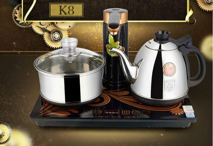 Полный автоматический Электрический Чай Плита Полный интеллектуальные роторный воды набор чайник пивоварения печь защита от перегрева