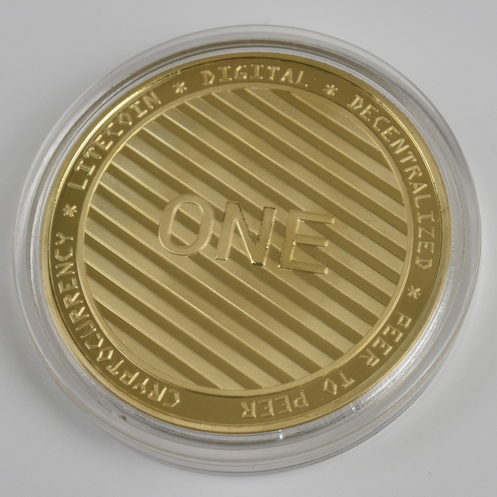 Hot 50pcs Lot Litecoin coin cryptocurrency Metal Coin For Souvenir in Non currency Coins from Home Garden