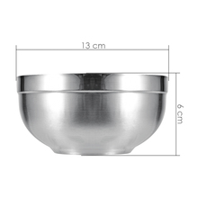 Family Dinnerware Rice Bowls Kids Double Layer Stainless Steel Bowls Child Anti-Hot Insulated Bowl Child Soup Bowl