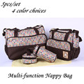 5PCS/Set High Quality Multi-function Tote Baby Shoulder Diaper Durable Nappy Bag Mummy Mother Baby Bag