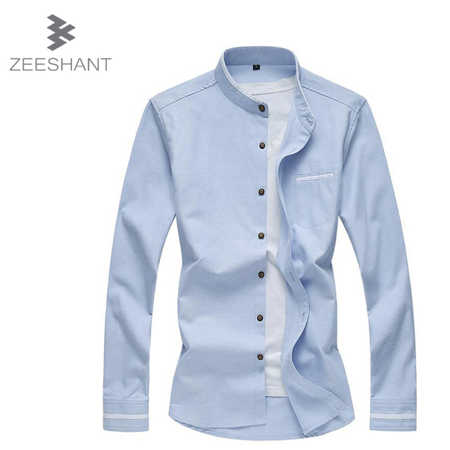 6XL 7XL New 2017 Spring Autumn Men Clothes Solid Color Casual Long-Sleeved Men Shirt Mens Dress Shirts in mMen's Tuxedo Shirts
