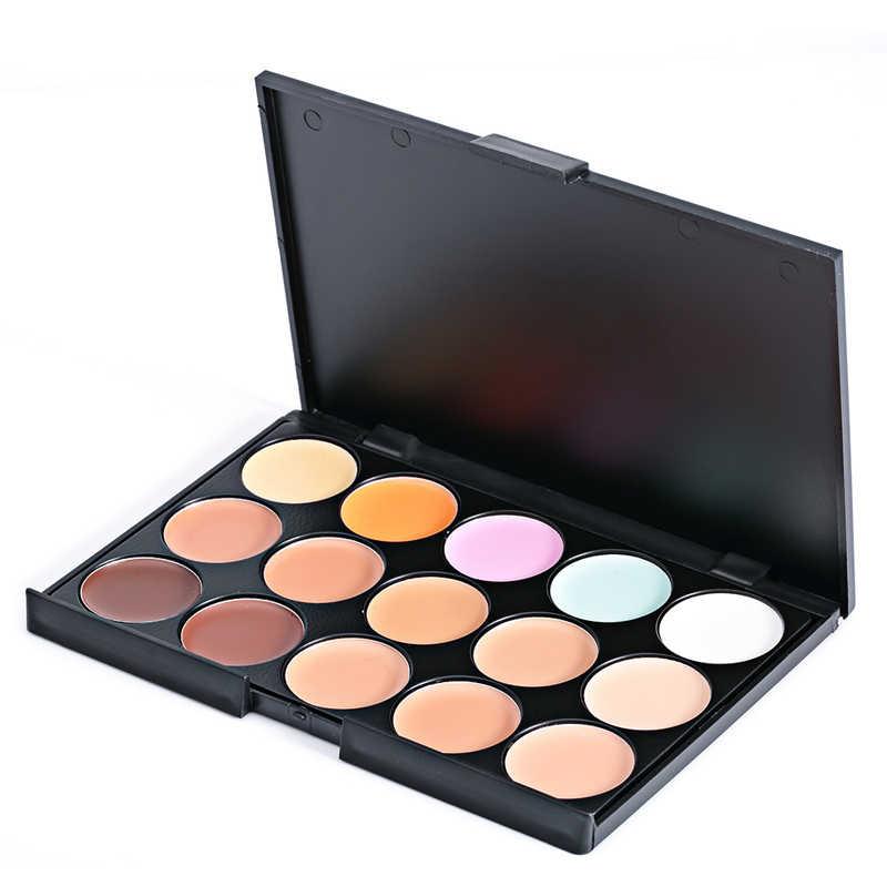 15 צבעים מקצועי קונסילר לוחות איפור קרם בסיס קרן צבעים מט פנים Contouring קוסמטי קונסילר צבעים