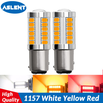 ASLENT 2pcs 1157 P21/5W BAY15D Super Bright 33 SMD 5630 5730 LED auto brake lights fog lamp car daytime running light stop bulbs