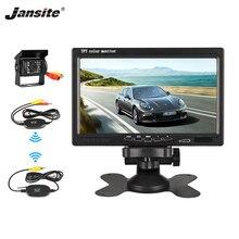 Jansite 7 pollici TFT LCD Car Monitor Senza Fili versione HD Display Inversione della macchina fotografica di Sistema Paking Telecamera di Assistenza 18IR della macchina fotografica LED