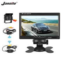 Jansite 7 inches TFT LCD Car Monitor Wireless version HD Dis