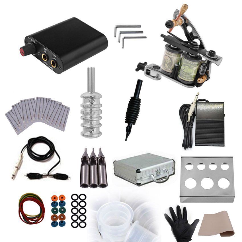 Permanent Makeup Tattoo Power Supply Rotary Machine Gun Kit for Microblading Body Art Shader Liner Foot Pedal Needles Ink CupPermanent Makeup Tattoo Power Supply Rotary Machine Gun Kit for Microblading Body Art Shader Liner Foot Pedal Needles Ink Cup