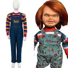 Kids Cosplay 2019 Child's Play Cosplay Chucky Costume Sweater Pants Charles Lee Ray Buddi Doll Outfit for Halloween Fancy Dress
