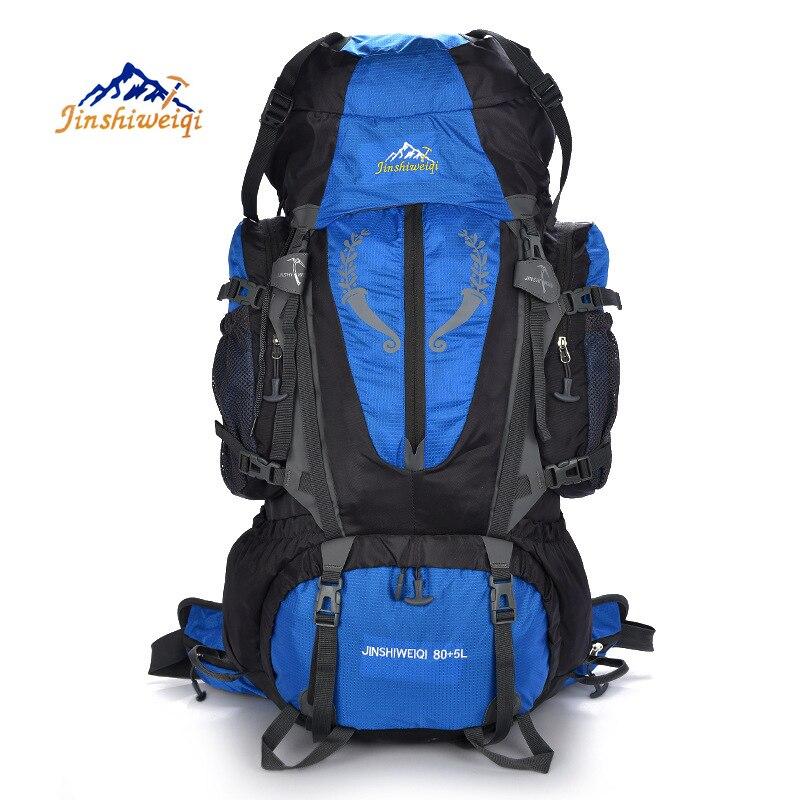JINSHIWEIQI Mochilas bolsos 85L acampar deportes Al Aire Libre de Gran capacidad