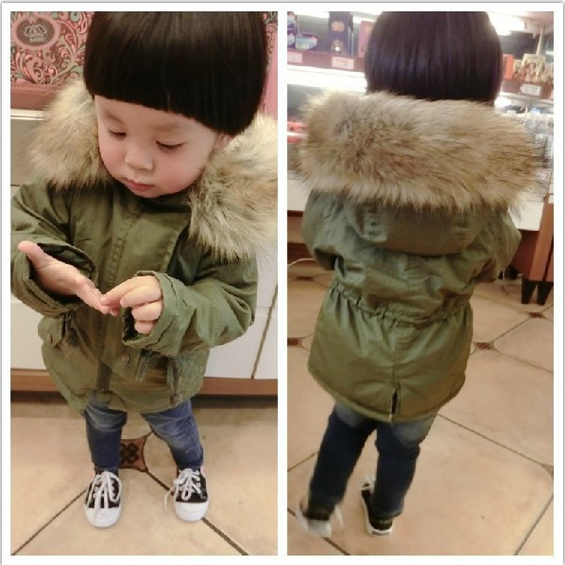 Green toddler winter coat