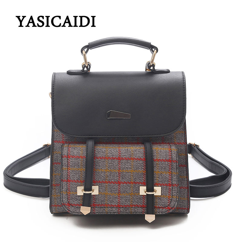 Vintage Wool Women Backpack 2018 New Female Backpacks For Teenage Girls School Bag Fashion Casual Korean Belts Women Bag Mochila jmd backpacks for teenage girls women leather with headphone jack backpack school bag casual large capacity vintage laptop bag