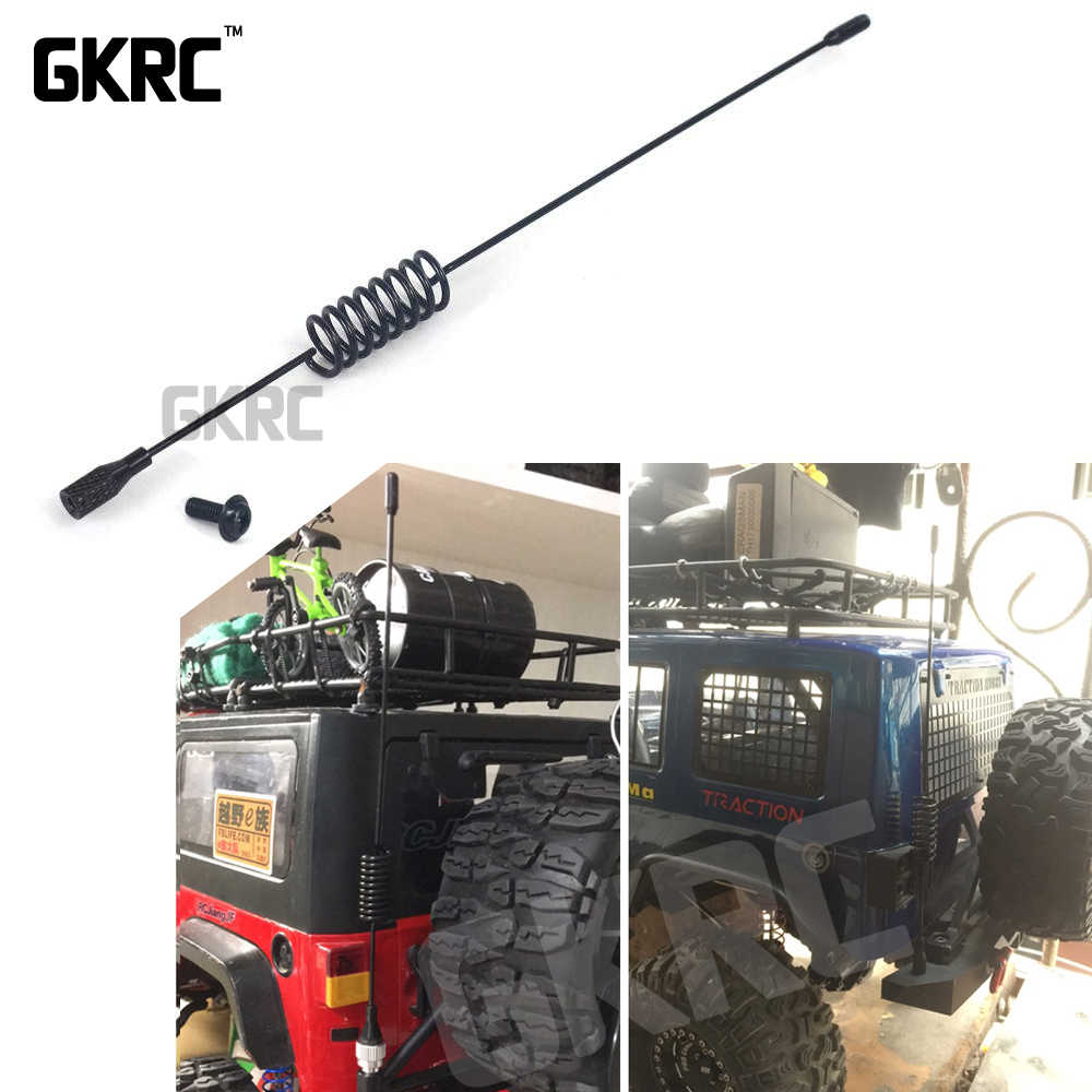 197mm RC Auto Metalen Decoratieve Antenne voor 1:10 RC Crawler Axiale SCX10 90046 Traxxas D90 D110 TRX-4 TRX4 RC4WD tamiya CC01