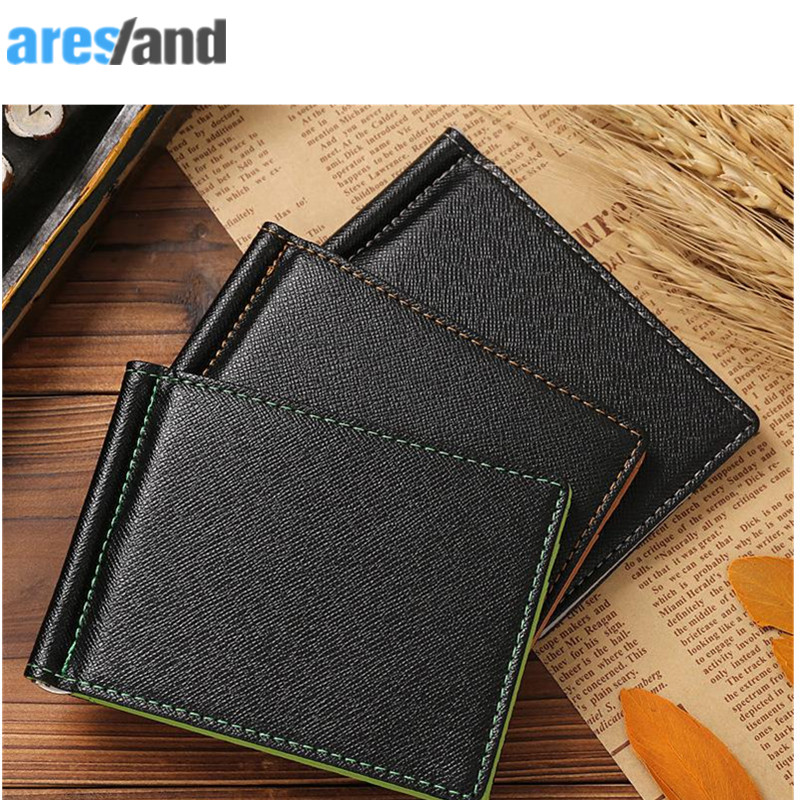 Aresland European American Style Wallets Dollar Price PU Leather Men's Money Bag Wallet Short Creative Card Purses & ID Holders