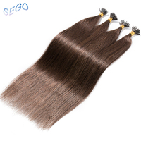 SEGO 16182022 Straight Human Pre Bonded Fusion Hair I Tip Hair Extensions Keratin Double Drawn Non Remy Hair Extensions 1g/s