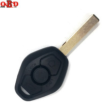HKOBDII 3 button Straight Remote Car Key For BMW CAS2 315/433MHZ With 46 Electronic Chip with HU92 Blade все цены