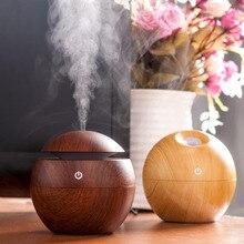 Mini Portátil Aroma Aceite Esencial Difusor Fabricante de La Niebla Humidificador Ultrasónico Aroma Difusor de Luz USB De Madera Para Oficina En Casa