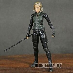 Image 3 - Marvel Avengers Infinity War Black Widow Shf Pvc Action Figure Collectible Model Kinderen Speelgoed Pop