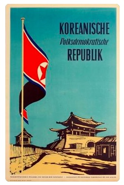 <font><b>Democratic</b></font> Peoples Republic of Korea 1954 Travel Tour Retro Vintage Poster Canvas DIY Wall Paper Posters Home Decor Gift image