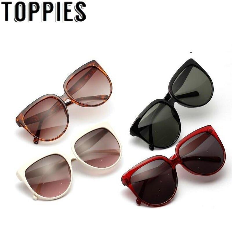 2019 Summer Women Retro Sunglasses Round Wide UV 400 Sunglasses Trendy Oversized Sunglasses