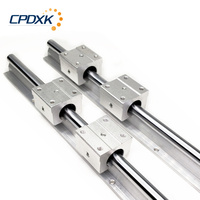 2pcs linear rail SBR16 1500mm + 4 pcs SBR16UU linear bearing blocks for cnc parts 16mm linear guide
