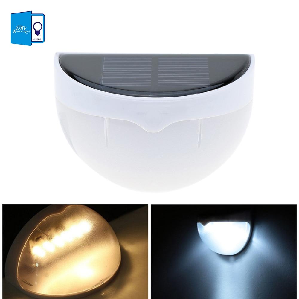 [DBF] Günəş Elektrik Panelinin işıqları 6 LED İşıq Sensor Suya davamlı Xarici Çit Bağça Yolu Divar Fənəri İşıqlandırma Ağ İsti Ağ