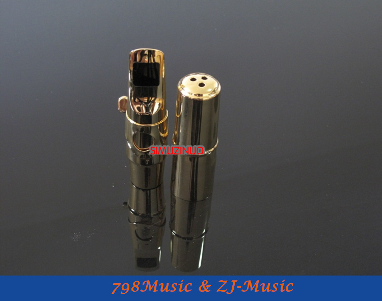A3 modèle 7 #-embout professionnel en métal Saxophone Alto JAZZ plaqué or