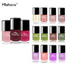 MISS NORA Water Based Gel Nail Polish 6ml  Peel Off Nails Oil Pink Quick Drying Art Top Base Coat Varnish Lacquer
