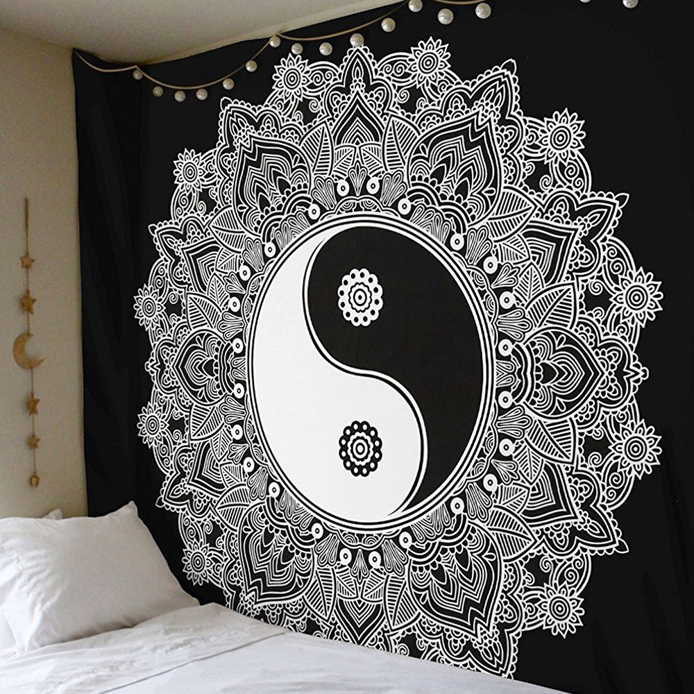 Гобелен чехол на спинку кровати Придверный коврик Современный Пляжный коврик из полиэстера Boho Мандала диван накидки пледы спальный настенная крышка - Цвет: 3