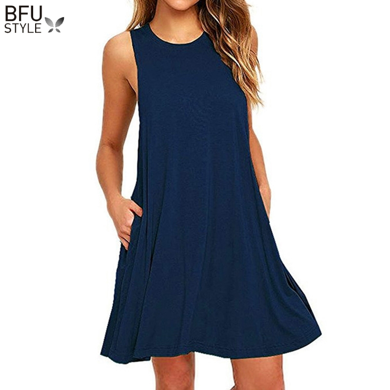 Plus Size Summer Dress Women Mini Dresses Sleeveless Boho Short Beach Dress Black Red Sundress Casual Shift Dresses CUERLY in Dresses from Women 39 s Clothing